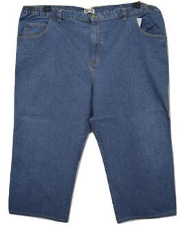Pantalon marime mare blugi, talie elastica jeans american, 58 KING SIZE
