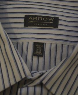 Camasa marime mare mineca lunga, xxl american, ARROW Wrinkle free