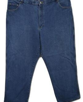 Pantalon jeans marime mare, 48 x 30 american, BASIC EDITIONS