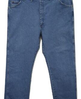Pantalon jeans marime mare, talie elastica 44 x 30 american, WRANGLER