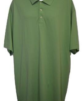 Tricou bumbac pique polo, xxxxl american, CUTTER BUCK USA verde kiwi