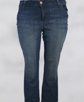 Pantalon femei jeans stretch, talie joasa elastica, xxxl american, LEE talie 126-140 cm