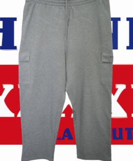 Pantalon trening bumbac cargo, marime mare 2 xl american, BEVERLY HILLS talie 110-180 cm